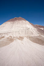 Gray badland hills. Petrified Forest NP, Arizona. - Photo #17953