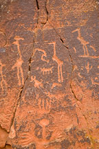 Heron petroglyphs. V-Bar-V Ranch, Arizona, USA. - Photo #17805