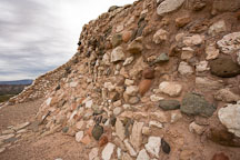 Limestone and sandstone provided the building materials for the walls at Tuzigoot. Tuzigoot National Monument, Arizona, USA. - Photo #17706