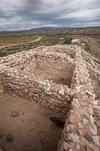 The rooftops (now missing) were used by the Sinagua Indians as living areas. Tuzigoot National Monument, Arizona, USA. - Photo #17695