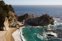 McWay Cove in Julia Pfeiffer Burns State Park. Big Sur, California, USA. - Photo #17022