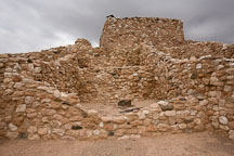 Remnants of Sinagua village. Tuzigoot National Monument, Arizona, USA. - Photo #17673