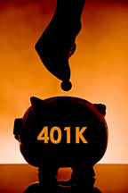 401K Piggy bank. - Photo #17188