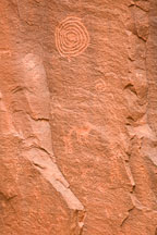 Spiral petroglyph at V-bar-V ranch. Arizona, USA. - Photo #17790