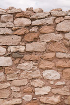 Stone and mortar wall. Tuzigoot National Monument, Arizona, USA. - Photo #17662