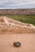 Stone mano and metate. Tuzigoot National Monument, Arizona, USA. - Photo #17702