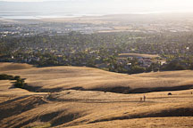 Setting sun on the East Bay. Fremont, California. - Photo #17133