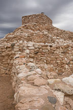 Tuzigoot is an ancient pueblo on a desert hilltop. Tuzigoot National Monument, Arizona, USA. - Photo #17686