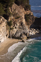 McWay Cove Falls. Big Sur, California, USA. - Photo #17047