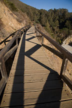 Wooden trail bridge. Julia Pfeiffer Burns State Park, California, USA. - Photo #17052