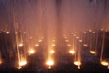 Fountain at the Music center. Los Angeles, California, USA. - Photo #4519