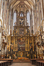 Interior of the Church of Saint Mary of the Snows. Prague, Czech Republic. - Photo #29419