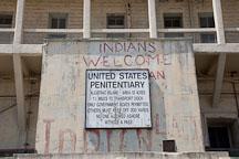 United States penitentiary sign. Alcatraz Island, California. - Photo #22119