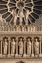West rose window and the gallery of kings. Notre Dame Cathedral, Paris, France. - Photo #31319