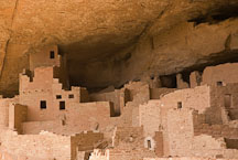 Ancestral Puebloan dwellings. Cliff Palace, Mesa Verde NP, Colorado. - Photo #18598