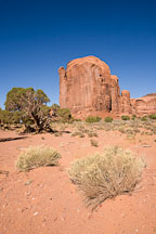 Beer stein shaped butte. Spearhead Mesa, Monument Valley, Arizona. - Photo #18795