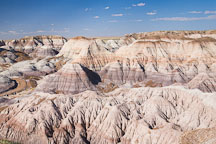 The Blue Mesa badlands are formed from bentonite clay. Petrified Forest NP, Arizona. - Photo #18011