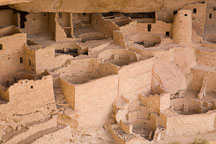 Cliff Palace, an Anasazi ruin, contains many rooms and towers. Mesa Verde NP, Colorado. - Photo #18532