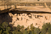 Cliff Palace in the late afternoon light. Mesa Verde. - Photo #18705