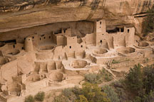 Cliff Palace as seen from above. Mesa Verde, Colorado. - Photo #18551