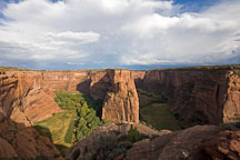 Clouds over Navajo Fortress. Canyon de Chelly, Arizona. - Photo #18481