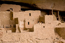 Dense cluster of rooms at Cliff Palace. Mesa Verde NP, Colorado. - Photo #18570