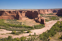 Dry and sandy riverbed. Canyon de Chelly, Arizona. - Photo #18183