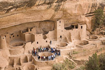 Guided tour at Cliff Palace. Mesa Verde NP, Colorado. - Photo #18538