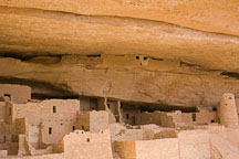 Storage rooms at Cliff Palace were built high to avoid moisture and pests. Mesa Verde NP, Colorado. - Photo #18577