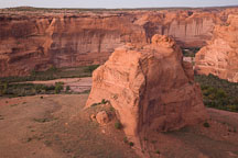 Junction overlook. Canyon de Chelly NM, Arizona. - Photo #18317