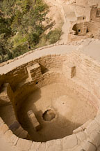 Kiva at Cliff Palace. Mesa Verde NP, Colorado. - Photo #18599