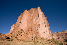 Monument with rock fall. Canyon de Chelly NM, Arizona. - Photo #18150