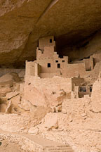 Multi-story buildings in Cliff Palace. Mesa Verde, Colorado. - Photo #18588