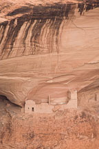 The newest structure in the Mummy Cave Ruin complex. Canyon de Chelly NM, Arizona. - Photo #18473