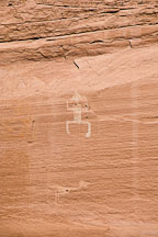 Pictograph at White House Ruin. Canyon de Chelly, Arizona. - Photo #18223