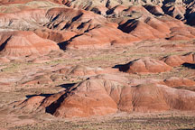Red hills in the Painted Desert. Petrified Forest NP, Arizona. - Photo #18055
