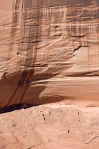 Sliding House Ruin is located at the top of a steeply sloping ledge. Canyon de Chelly, Arizona. - Photo #18271