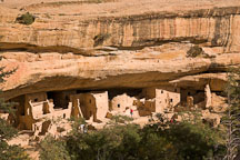 Spruce Tree House is the third largest cliff dwelling at Mesa Verde. Mesa Verde NP, Colorado. - Photo #18660