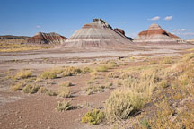 The Tepees are giant hills formed from layered iron, carbon, manganese deposits. Petrified Forest National Park, Arizona. - Photo #18014