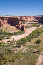 View from Tsegi overlook. Canyon de Chelly, Arizona. - Photo #18181