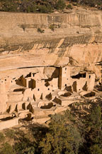 Warm afternoon light on Cliff Palace. Mesa Verde, Colorado. - Photo #18715