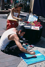 Street Artists, Avalon, Catalina Island, California. - Photo #572
