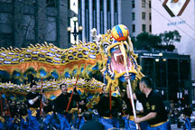 Dragon chasing ball. San Francisco Chinese New Year Parade. San Francisco, California. - Photo #158