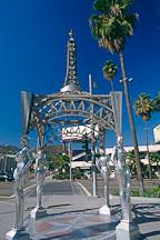 Gazebo with statues of Mae West, Dorothy Dandridge, Dolores Del Rio and Anna May Wong. Hollywood, Los Angeles, California, USA. - Photo #582