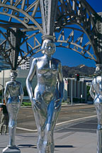 Gazebo with statues of Mae West, Dorothy Dandridge, Dolores Del Rio and Anna May Wong. Hollywood, Los Angeles, California, USA. - Photo #583