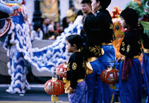 Girl with lantern. San Francisco Chinese New Year Parade, San Francisco, California. - Photo #153