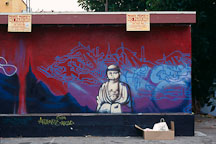 Graffiti with Buddha image. Los Angeles, California, USA. - Photo #29