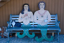 Mermaid and Merman bench. Avalon, Catalina Island, California - Photo #567