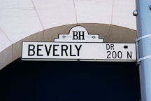 Beverly street sign. Beverly Hills, California, USA. - Photo #7102
