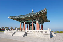 Korean Bell of Friendship and the Bell pavilion. Angels Gate Park, San Pedro, California, USA. - Photo #7302